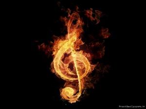 Fire-Music-Note-Wallpaper