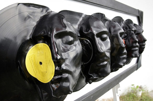 Melted-Vinyl-Records-Sculptures-3